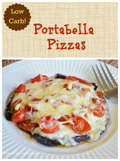 Low Carb Portabella Pizzas | Cottage at the Crossroads