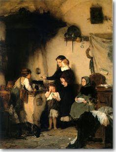 Nikolaos Gyzis ~ The Orphans ~ Greek Painter Charles Edward, Greek Paintings, Art Paintings, Street Art, Art Ancien, Social Art, Art Database, Chiaroscuro, Figure Painting