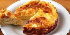 Αλμυρό κέικ με τορτίγια1 Baked Potato, Pancakes, Muffin, Pie, Potatoes, Baking, Breakfast, Ethnic Recipes, Desserts