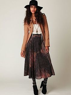 Free People Printed Wrap Skirt at Free People Clothing Boutique - StyleSays
