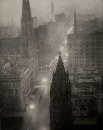 5th Avenue Trinity Church by Alvin Langdon Coburn. 1912. PLATINUM PRINT. STRAIGHT PHOTOGRAPHY.