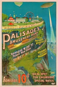 Palisades Amusement Park poster - went here as a kid