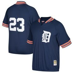Kirk Gibson Detroit Tigers Mitchell & Ness Cooperstown Collection Mesh Batting Practice Quarter-Zip Jersey - Navy