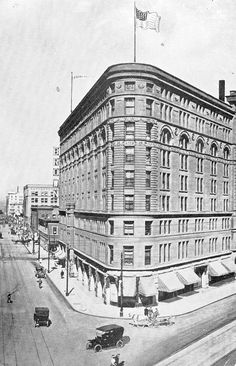 Historical Colorado | The triangular-shaped Brown Palace Hotel | Denver landmark since 1892.