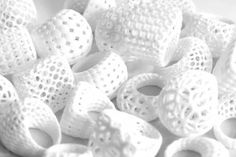 3D printed polyamide rings by monomer