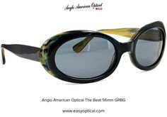 Anglo American Optical The Beat 56mm GRBG Beats, Sunglasses, American, Sunnies, Shades, Eyeglasses, Glasses