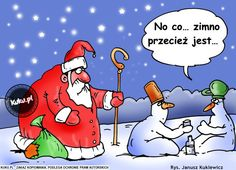 """Komiks: """"no co, zimno przecież jest"""" (źródło: http://kuku.pl)"""