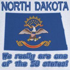 State Pride North Dakota Funny Novelty T Shirt by RogueAttire, $18.99
