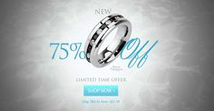 CHECKOUT ALL NEW 75% Off Stunning Ring! Get This Ring At 75% Off Here Today #BuyBlueSteel