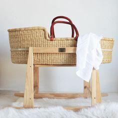 Moses Basket, Musical Toys, Girl Nursery, Bassinet, Hand Weaving, Baby, Home Decor, Crib, Hand Knitting