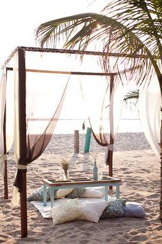 Beach lounge space.