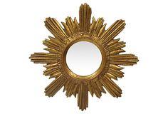 Gold Sunburst Mirror on OneKingsLane.com