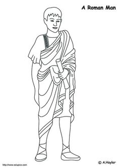 coloring page Roman era on Kids-n-Fun. Coloring pages of Roman era on Kids-n-Fun. More than coloring pages. At Kids-n-Fun you will always find the nicest coloring pages first! Rome Activities, History Activities, Activities For Kids, Dream Catcher Coloring Pages, Roman Man, Rome Art, Easter Coloring Pages, History For Kids, Roman Emperor