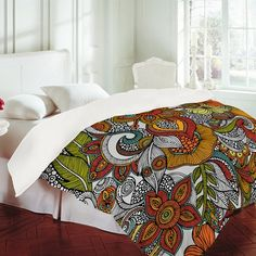 Love the entire collection of Valentina Ramos! Reminds me of Doodle Art I use to do as a kid ..So colorful & Pretty *lots of Designs to choose from* #bedding #bedroom #comforter #blanket #home #decor