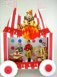 Big Top Assembly Circus Theatre by SparkleLovesWhimsey on Etsy, $65.00