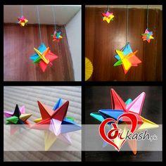 Rs: 100. ( Origami Omega Star for Decoration ) For order or info: www.dilkash.pk/shop/origami-omega-star-for-decoration/ Order@dilkash.pk / 0312-6999002 Call / Text / Whatsapp / Viber.