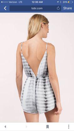 911b38037485 Striped tie dye cami romper deep v neck backless for women