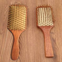 2016 Wooden Combs Paddle Brush Wooden Hair Care Healthy Cushion Massage Hairbrush Comb For Women #Affiliate
