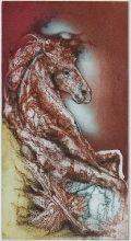 Variations sur le cheval II, Gravure, du peintre, Carmelo, DE LA PINTA, Signée et numérotée au crayon