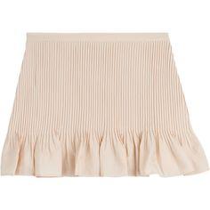 Vanessa Bruno Athé Pleated Miniskirt (106 AUD) ❤ liked on Polyvore featuring skirts, mini skirts, bottoms, short skirts, rose, pink skirt, zipper mini skirt, pleated miniskirt, fitted mini skirt and zipper skirt