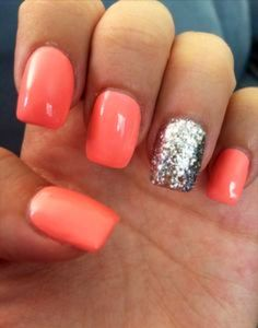 Peach and silver :)