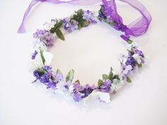 Wildflower Hair Wreath, Bohemian Wedding, Woodland Wedding or Flower Girl hairpiece! Can be custom made in to match your Wedding.