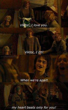 """I think you're in love Ron."""