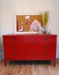 annie sloan, emperor silk red chalk paint @Jacqueline S - this colour would be PERFECT for you!