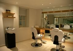 home salon ideas... Wall of mirrors