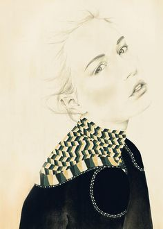Drawn From Fashion art print #illustration #painting #drawing #fashion