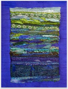 Rosie stitch: Recycled sari silk, embroidered and beaded.