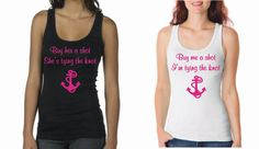 Bachelorette+Party+Tank+Custom+Made+to+Order+Nautical+by+Eventees,+$16.00