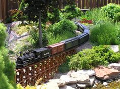 own special San Juan Express via Rio Grande Models UK - - Forums - G Scale Forums - Model Making Garden Railings, Train Info, Garden Railroad, Garden Bridge, Garden Train, Old Trains, Love Garden, Model Train Layouts, Rio Grande