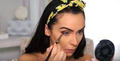 Chic Boho Makeup Tutorial Perfect For Any Season Boho Makeup, Diy Beauty Makeup, How To Do Makeup, Beauty Make Up, Beauty Hacks, Eyeshadow Crease, Simple Eyeshadow, Best Eyeshadow, Makeup Tutorial 2017
