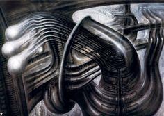 Dark Art: Hans Rudi Giger gallery № 3 Art Optical, Optical Illusions, Science Fiction, Hr Giger Art, Giger Alien, 70s Sci Fi Art, Surreal Artwork, Alien Art, Ancient Egyptian Art