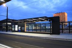 Tram Stop Infrastructure Urban Furniture, Street Furniture, Furniture Design, Bus Stop Design, Form Architecture, Timber Cabin, Bus Shelters, Shelter Design, Landscape Structure