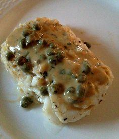 Pacific Cod with Mustard Caper Sauce