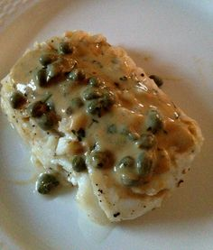 Pacific Cod with Mustard Caper Sauce