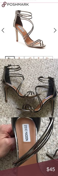 22b71cb7d3d Steve Madden Fico in Pewter Gorgeous shoe with 4