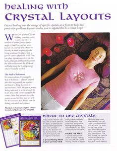 Crystals & Stones:  Healing with #Crystal Layouts.