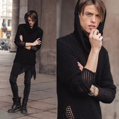 House Of Widow Ghostly Sweater, Topman Pullover, Zara Jeans