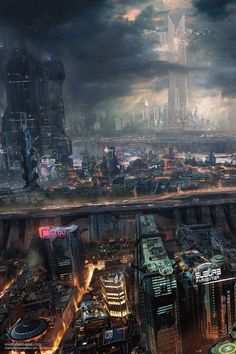 Tagged with art, storytime, cyberpunk, scienceandtechnology; Ville Cyberpunk, Cyberpunk City, Arte Cyberpunk, Futuristic City, Fantasy City, Fantasy Places, Fantasy World, Sci Fi City, New Retro Wave