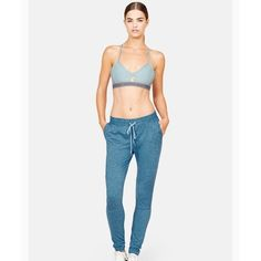"""Outdoor Voices Running Woman Sweats in Cerulean Worn only a few times, very good condition.  Part of the OV Core group. Sprint / stretch / relax / repose in the softest fabric we've yet to discover. Our moss jersey sweats are made for pretty much anything you can conjure up. Slightly loose fit. 30"""" inseam, drawstring waist, dual side pockets, hidden interior pocket. Mossed Jersey. 89% Polyester, 11% Spandex. Model is 5' 9"""" & wearing Size S. The last picture is kind of awk but I needed…"""