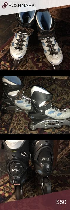 Salomon women's rollerblades Salomon's women's rollerblades. Size 9 great used condition. Has a few cosmetic scratches. Beautiful skates saloman Other