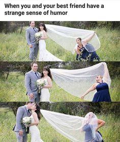 The husband looks so uncofordable. Yet the bride looks likeshes ignoreingit and enjoyingitat the sametime.