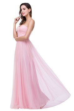 Elegant Sweetheart Pink Brom Dress 2016 Ruched Long Prom Gown