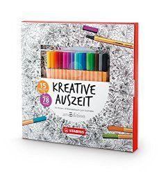 Stifte & Zubehör – Malbuch für Erwachsene