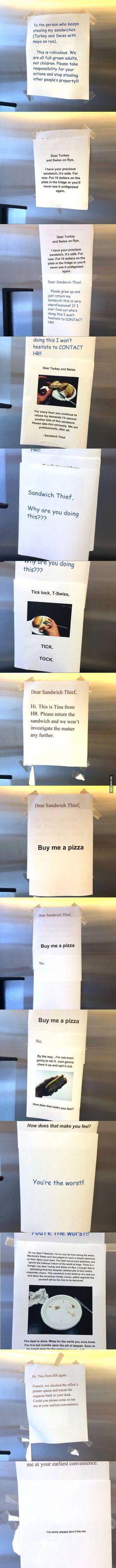 Passive agressive work place!