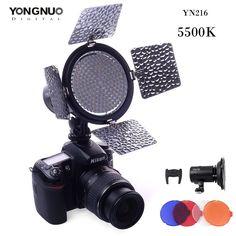 Yn216 yongnuo levou luz de vídeo 216 levou lâmpada acende iluminação 5500 k para foto estúdio fotográfico dslr camera camcorder em Iluminação fotográfica de Consumer Electronics no AliExpress.com | Alibaba Group