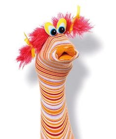 More sock puppet ideas you could make, but this is professionally made in Europe.  Imagine the different voices students would give THIS character in Readers Theater!  ;)  Need scripts?  Readers Theater All Year is here to help.